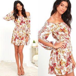 NWT Lulu's Lysandra Floral Off The Shoulder Dress